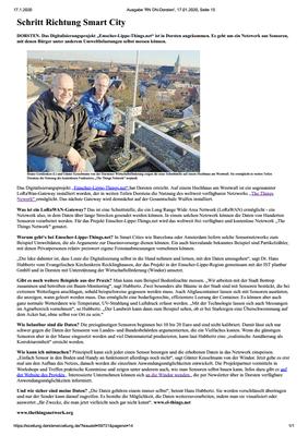 Bericht in der Dorstener Zeitung von Robert Wojtasik vom 17. Januar 2020